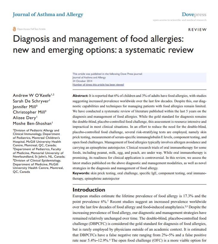 strategies for children with food allergies essay Coping with food allergy by children and adolescents – a systematic review papers looking at coping strategies food allergy by children and.